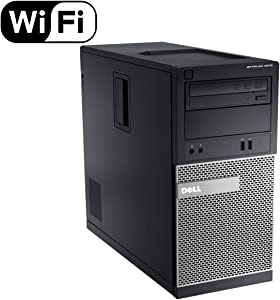 Dell Optiplex 3010 TW Tower High Performance Business Desktop Computer, Intel Quad Core i5-3470 up to 3.6GHz, 8GB RAM, 2TB HDD, DVD, USB 3.0, WiFi, Windows 10 Pro (Renewed)