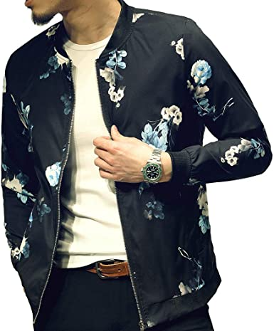 Smeiling Mens Lightweight Long Sleeve Down Coat Zip Up Bomber Jacket