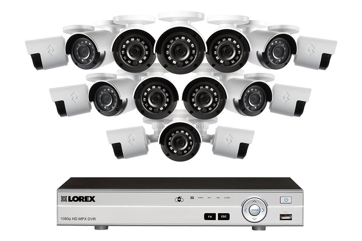 Lorex 4K 16 Channel 3TB DVR with 16 1080P Cameras