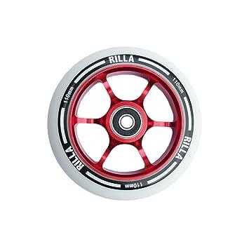 Rueda para patinete de acrobacias Commit de Rilla, 110 mm, PU de alta calidad, con rodamientos , rojo, 110 mm: Amazon.es: Deportes y aire libre