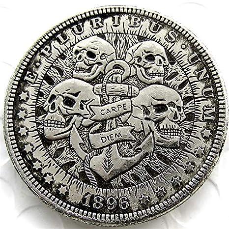 Amazon.com: Suiwoyoujooact HB(24) Hobo 1896 Morgan Dollar ...