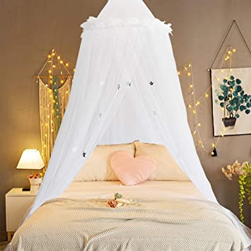 Girl Bed Canopy Lace Mosquito Net Colorful Bed Princess Play Tent Kids Canopies Crib Netting Princess Girls Toddler Baby Crib Mosquito Net Curtains Mesh Lace Dome Kids Play Tent