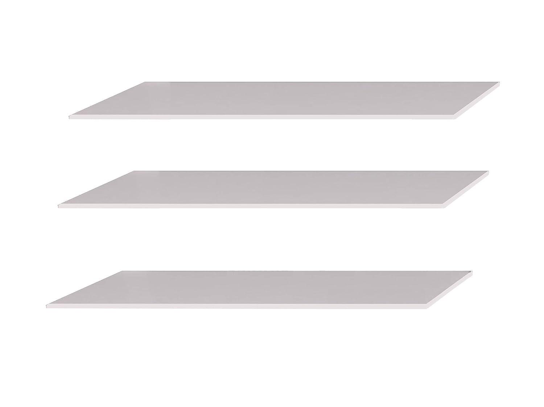 Mirjan24  Einlegeböden Agaro RA75 für Drehtürenschrank Agaro RA24 und Agaro RA24, 3 im Set (Weiß)