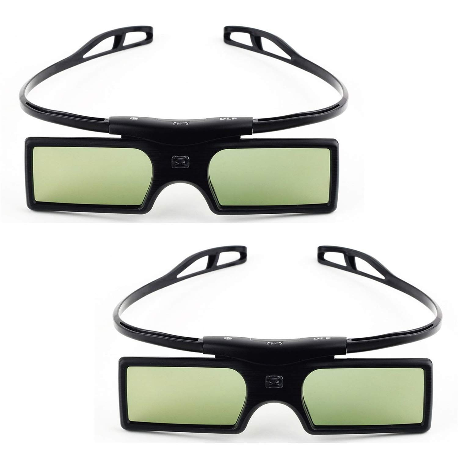 2 Set G15-DLP 3D Active Shutter Projector Glasses Smart TV Glasses Compatible with Optoma LG Acer DLP-Link DLP Link Projectors Gafas 3D Gosearca