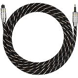 Richer-R Cable de Audio óptico, Toslink a miniconector Cable de Audio Digital de Fibra óptica de 3.5mm, Conector Chapado en O