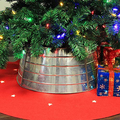 Blissun Christmas Tree Collar, Metal Christmas Tree Ring, Top 16 Inch Diameter Bottom 20 Inch Diameter