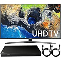 Samsung UN55MU7000FXZA 54.6 4K Ultra HD Smart LED TV (2017 Model) + 4K Ultra-HD Blu-Ray Player w/ 3D Capability + 2x 6ft High Speed HDMI Cable