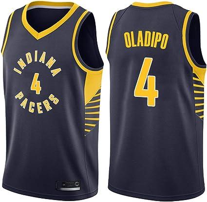 AMJUNM Hombre Mujer Ropa de Baloncesto NBA Pacers 4# Oladipo ...
