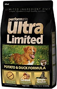 Performatrin Ultra Limited Ingredient Diet Potato & Duck Formula, Offers Your Dog Complete and Balanced Nutrition