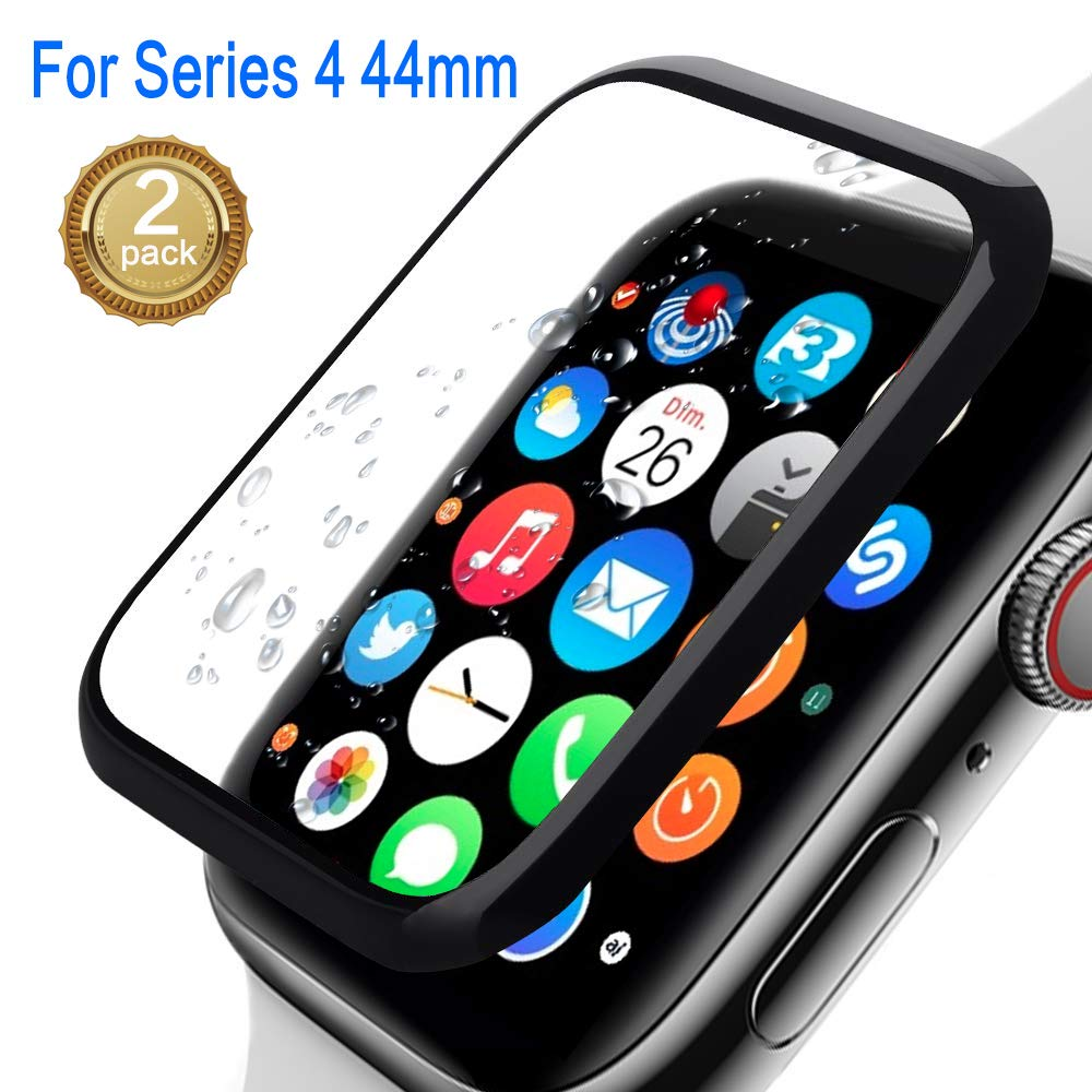 Apple Watch Screen Protector 44mm, Watch Advanced Screen Protector,Meshion [2 Pack] Anti-Scratch/Full Cover Tempered Film Compatible 44mm Series 4 by Meshion