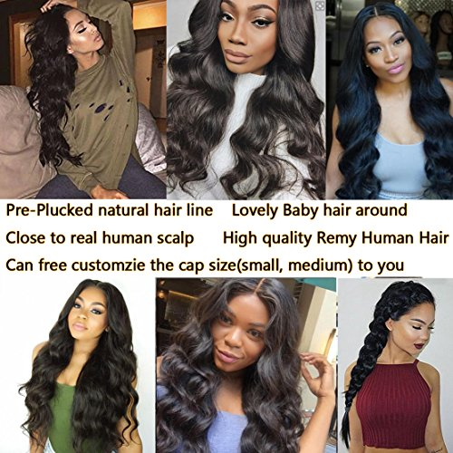GAMAY HAIR 150% Density Body Wave Full Lace Human Hair Wigs For Black Women Lace Front Human Hair Wigs with Baby Hair(14inch lace front wig)