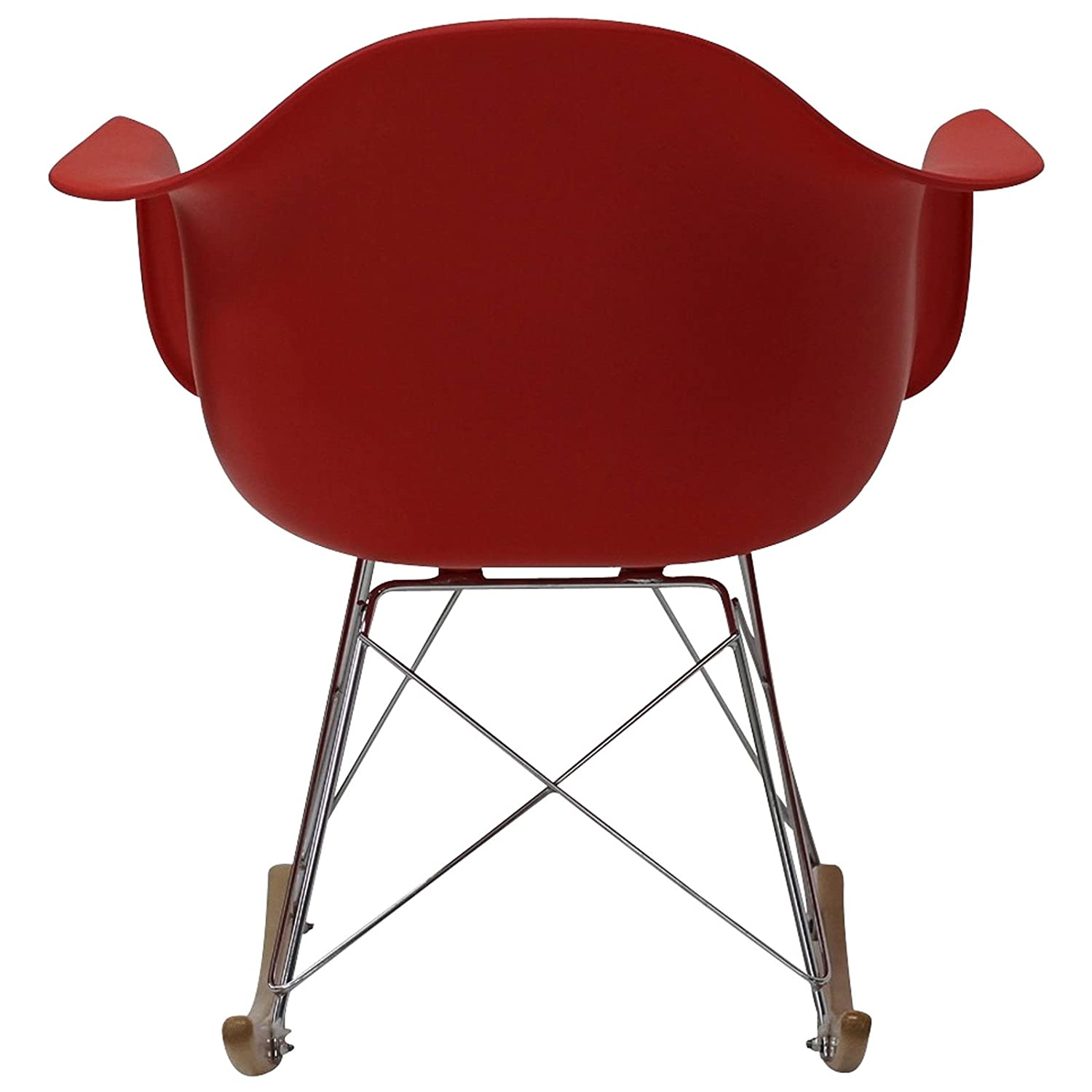 Sessel clipart  Amazon.com: Modway Molded Plastic Armchair Rocker in Red: Kitchen ...