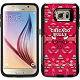 Chicago Bulls - Tribal Print design on Black OtterBox Commuter Series Case for Samsung Galaxy S6
