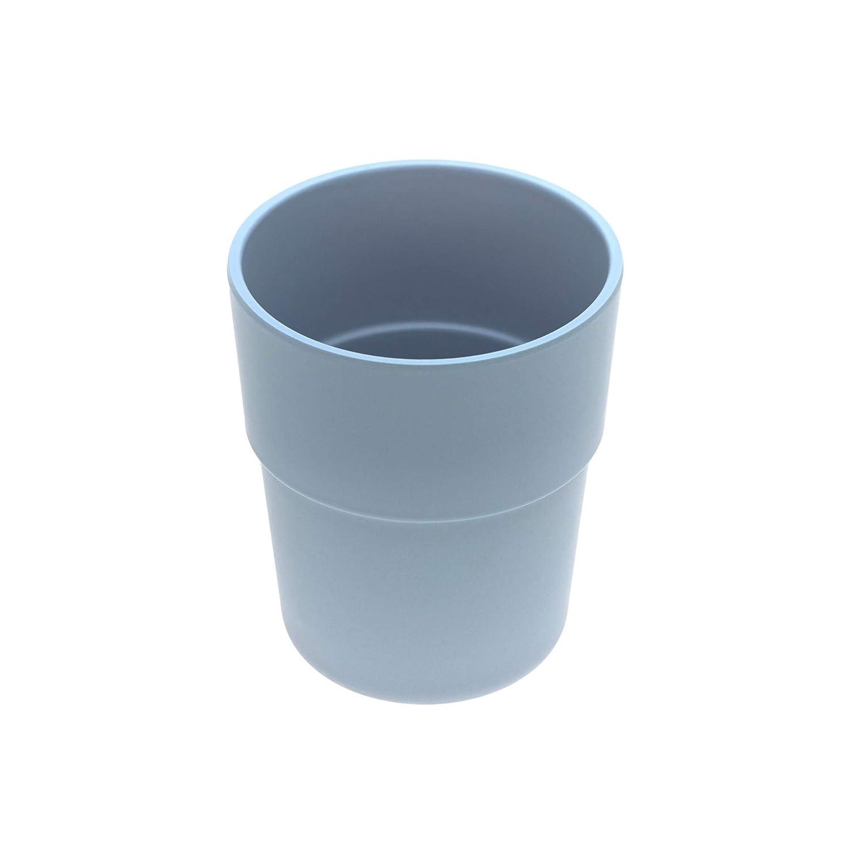 L/ÄSSIG Kinder Becher 2er Set Trinkbecher Set Kindergeschirr//Mug Set Uni grau//rosa