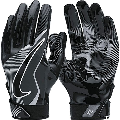 Boy's Nike Vapor Jet 4 Football Gloves Black/Wolf Grey Size Large (Vapor Gloves Football compare prices)