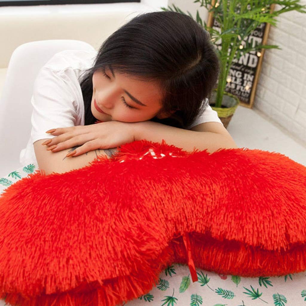 Brilcon Rouge Amour Coeur en Forme De Coussin 7 Tailles Lettres Brod/é Long Fluffy en Peluche Doux Coussin Pad Canap/é D/écor /À La Maison Valentin Cadeau De Mariage Valentin