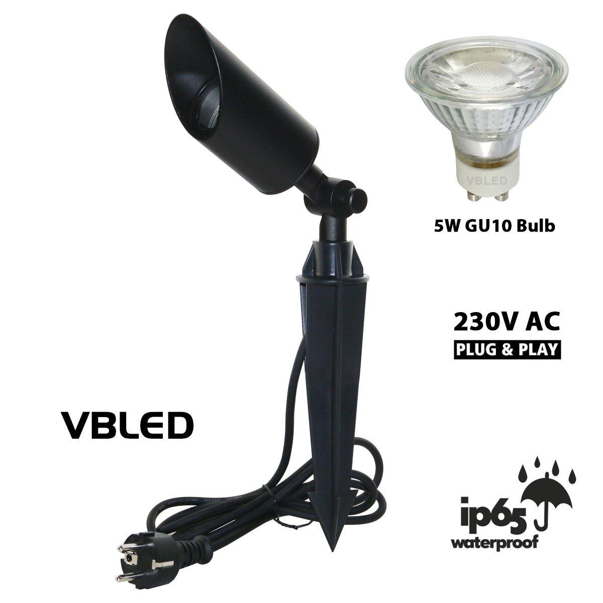 LED Gartenstrahler  Außen Leuchte Beleuchtung  3W//5W//7W DE Spießstrahler Lampe