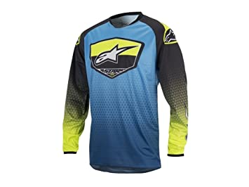 Camiseta Alpinestars Racer Supermatic azul / amarillo (XL)
