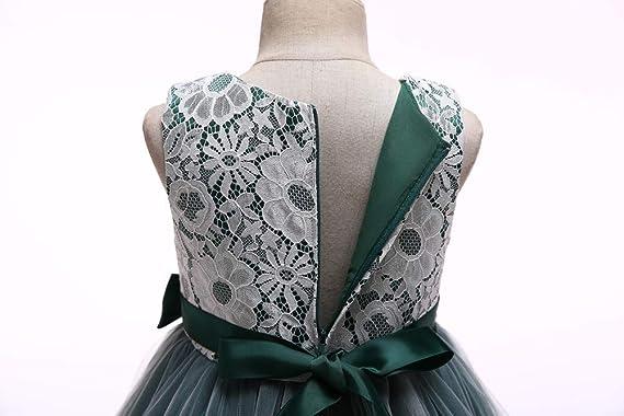feiXIANG Vestido Lindo de la Princesa del Vestido del bebé del Vestido de la Princesa del Vestido de Las Muchachas del bebé del cordón del Vestido de la ...