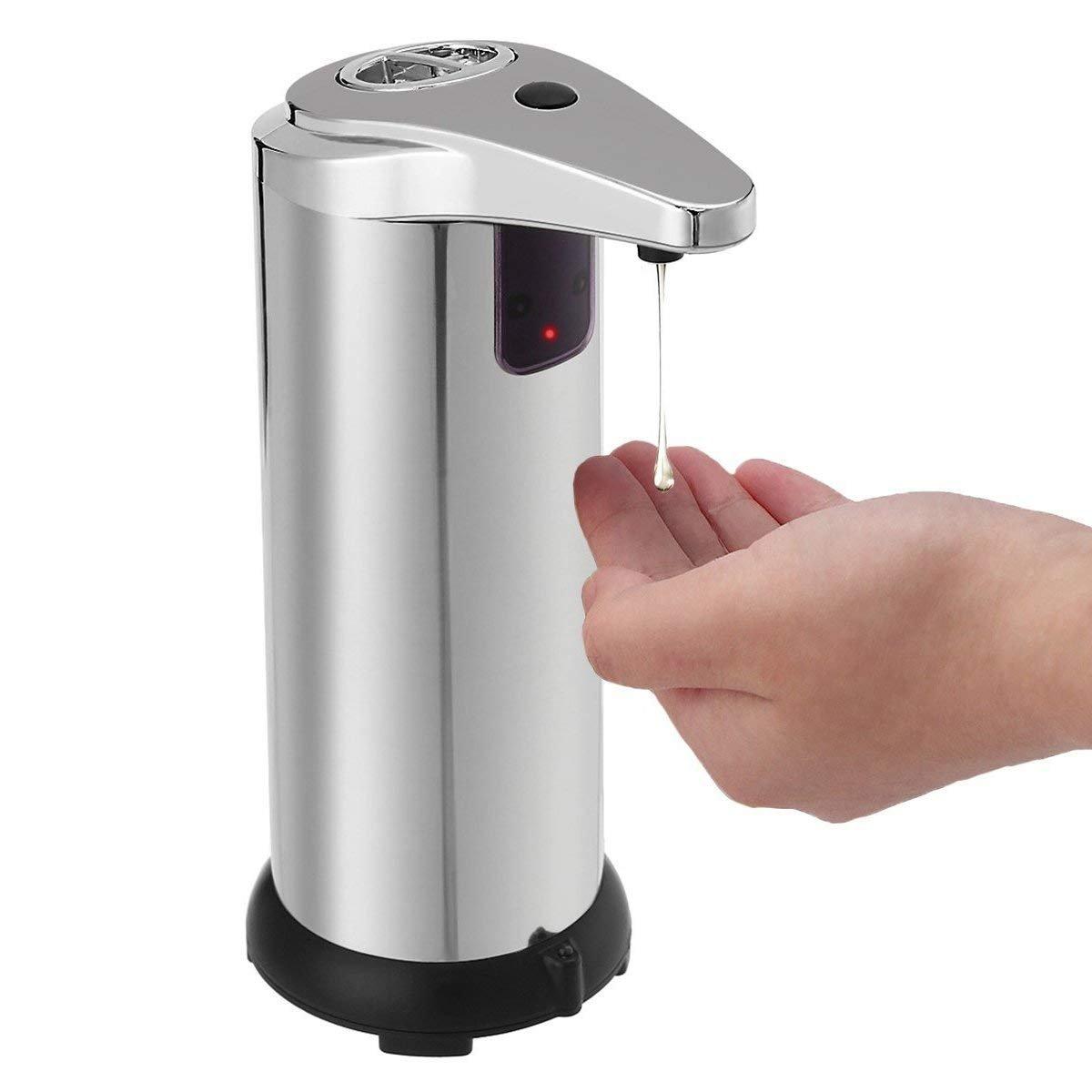 stainless-silver FANTIC acciaio INOX vivavoce sensore touch-less auto dispenser di sapone con base impermeabile 280/ml