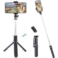 Selfie-stick stativ med fjärrkontroll, 360° rotation 3-i-1 trådlös selfiestång monopod trådlös kompakt, TikTok…