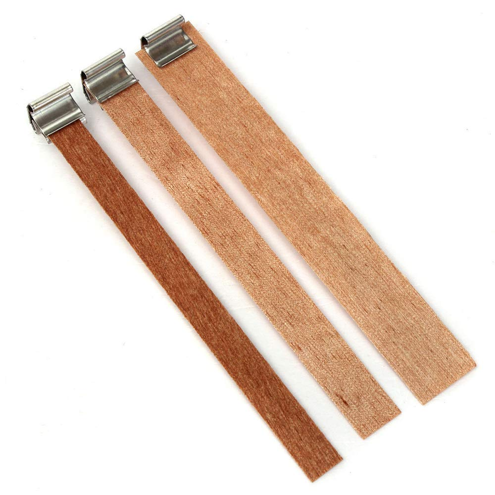 L-19mm LTKJ 50Pcs 130mm//5inch Long Wood Candle Wick with Sustainer Tab DIY Candle Making Supply