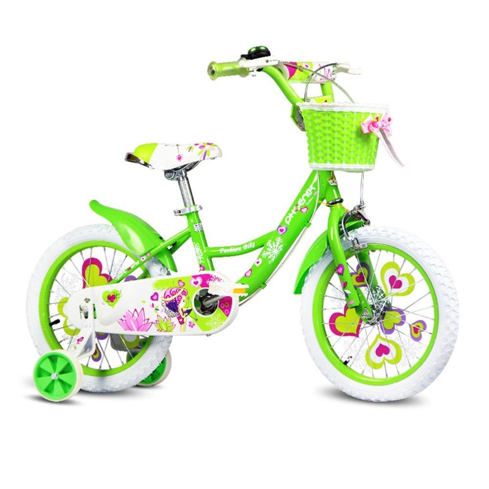 YANFEI 子ども用自転車 グリーンフェアリーバイクキッズバイク3-8歳の女の子が安定して安全に乗る 子供用ギフト B07DZDNBVL16 inches Green