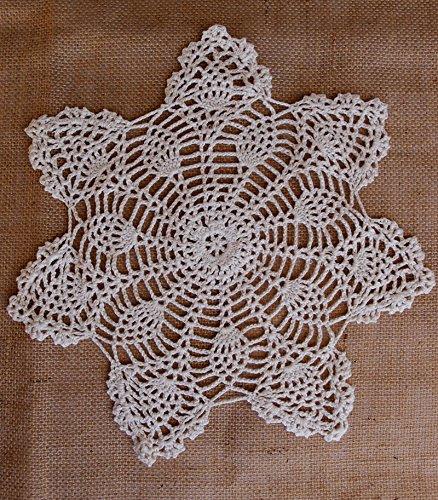 Quasimoon Shaped Handmade Crochet Doilies
