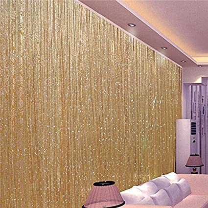 Amazoncom Kisstaker Glitter Tassel String Line Door Window Curtain