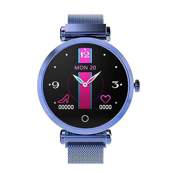 Reloj de Moda para Mujer Reloj Inteligente Monitor de Ritmo ...