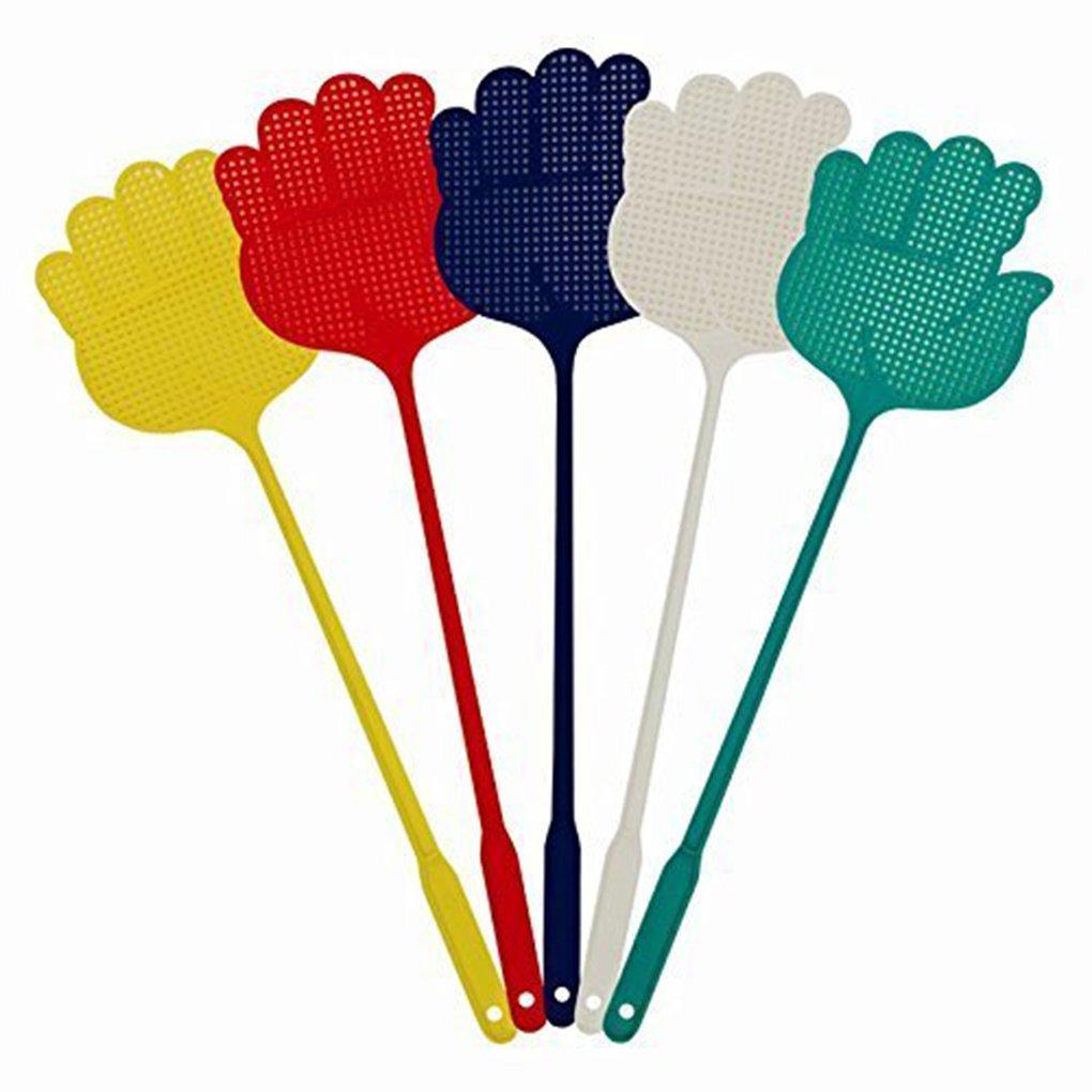 Dpolrs 5pcs Accueil Cuisine Accessoires Palm Main en Plastique en Forme de Flyswatter Couleur au Hasard