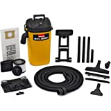 Shop-Vac 3942300 5 gallon 4.0 Peak HP Wall Mount Wet/Dry Vacuum Yellow/Black Hands-Free Vacuum with Accessories Type AA Cartr