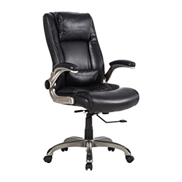 Amazoncom LCH Ergonomic Bonded Leather Office Chair FlipUp