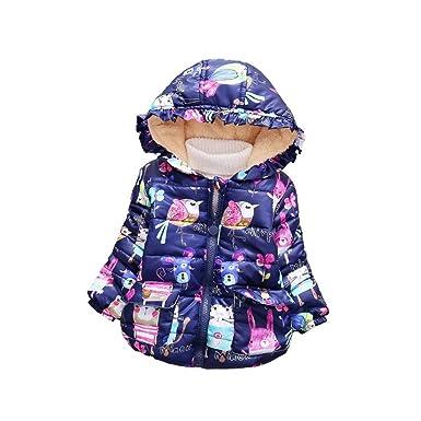 3b0c4d617 Amazon.com  Baby Girl Winter Coat Children s Parkas Jackets Toddler ...