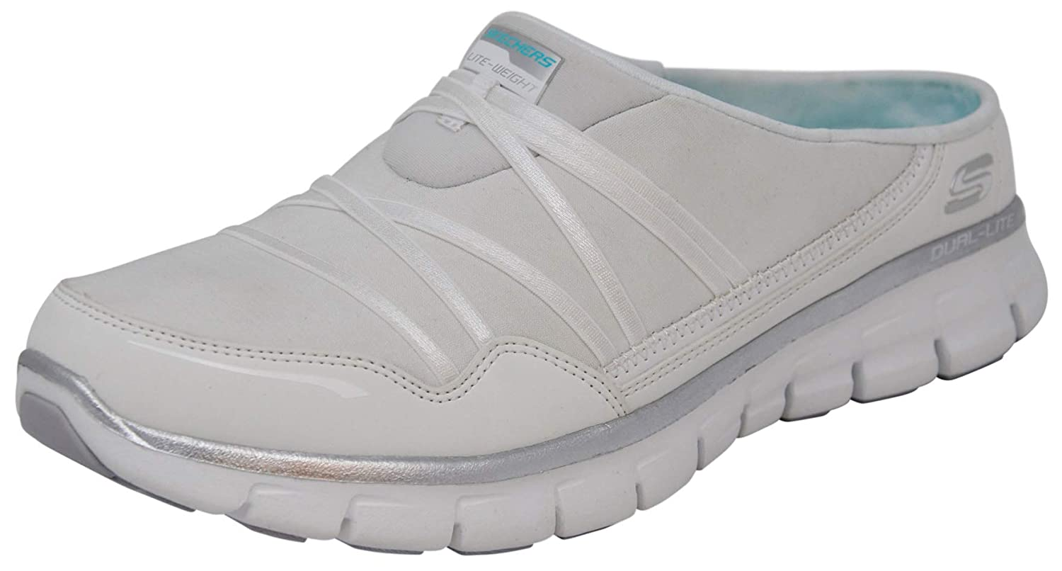 Blanc Argenté 38 EU Skechers Sport Wohommes Air Streamer Slip-On Mule