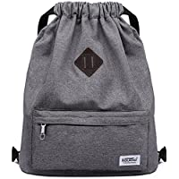Drawstring Sports Backpack Gym Yoga Sackpack Shoulder Rucksack for Men and Women