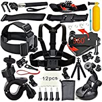 YFY 26-In-1 Basic Outdoor Sports Accessories Kit for GoPro Hero Cameras