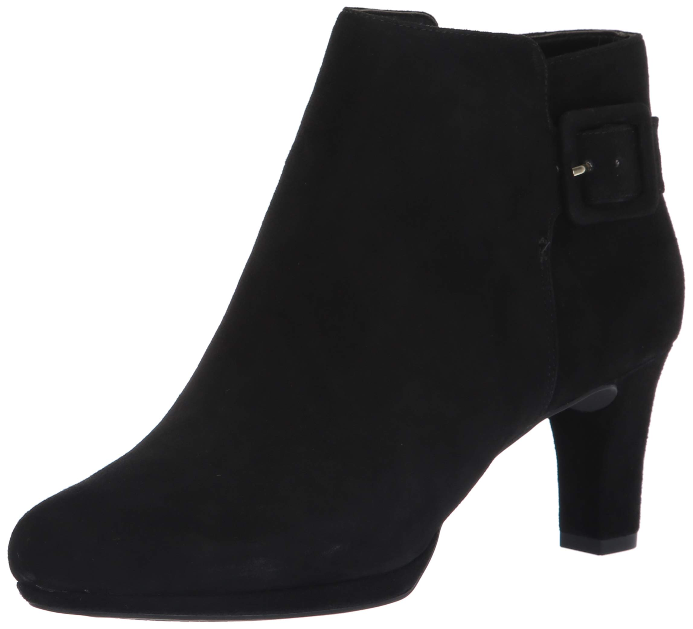 Rockport Women's TM Leah Bootie Fashion Boot, Black Kid Suede, 065 W US by Rockport