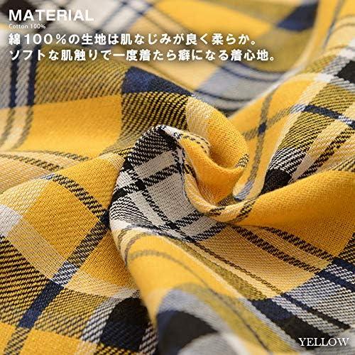 ビッグシャツ チェックシャツ 半袖 シャツ メンズ レディース 韓国 ファッション ペアルック カップル お揃い 服 トップス バックプリント プリント ユニセックス