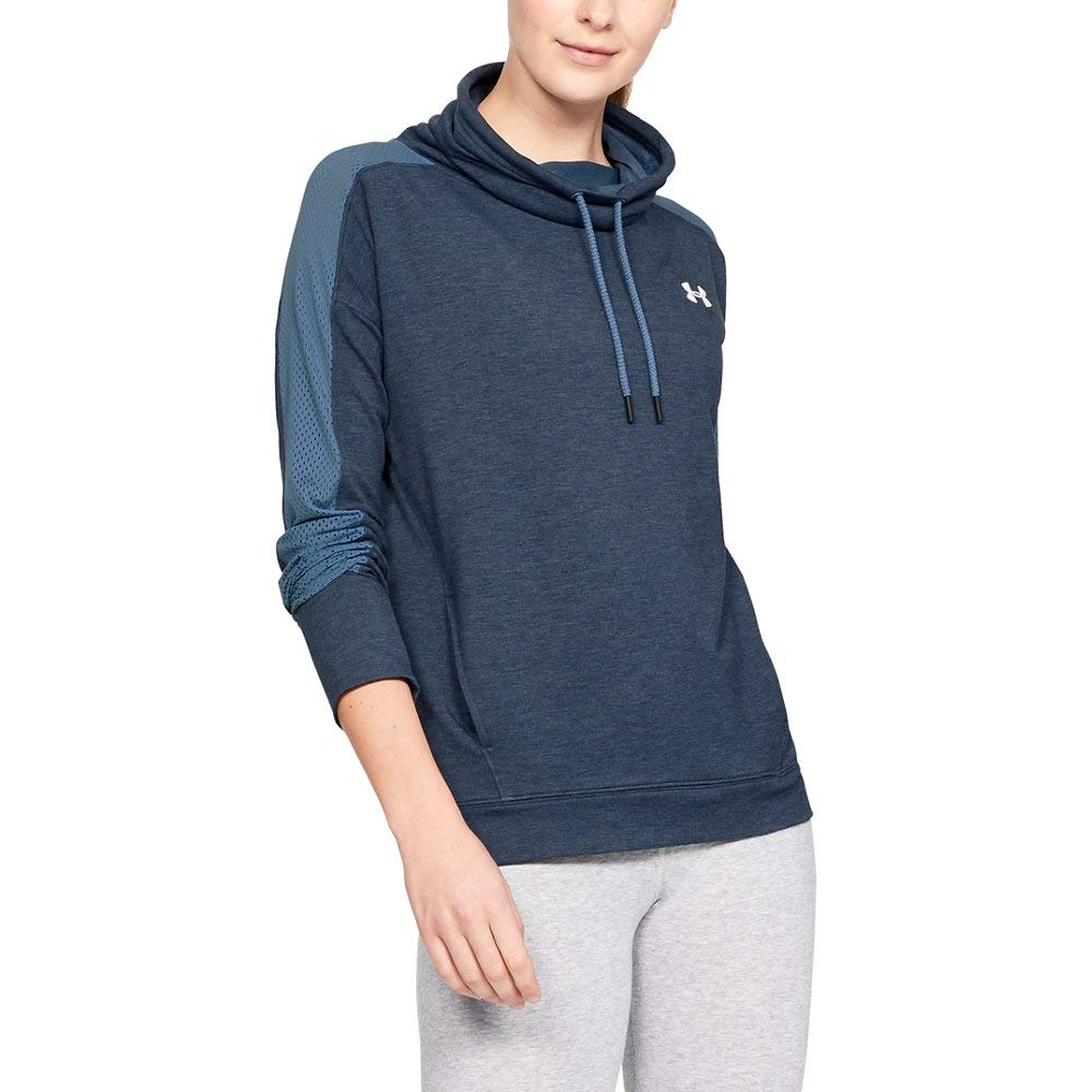 Under Armour Women's UA Featherweight Fleece Funnel Neck LG Thunder by Under Armour