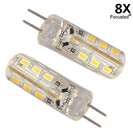 8 x Bombilla Lámpara G4 3014 SMD 24 LED Luz Blanco Cálido 1.5W DC 12V