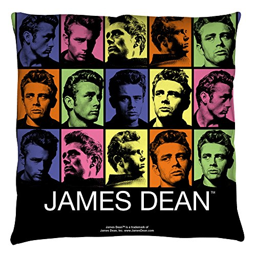 James Dean Color Block Throw Pillow White 16X16