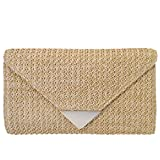 Natural Straw Clutch, Natrual