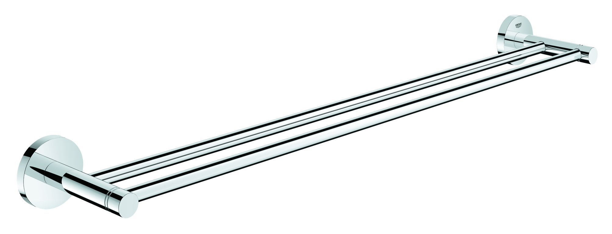 Grohe 40802001 Essentials Double Towel Bar 26.182 x 4.725 x 2.363 Chrome by GROHE (Image #2)