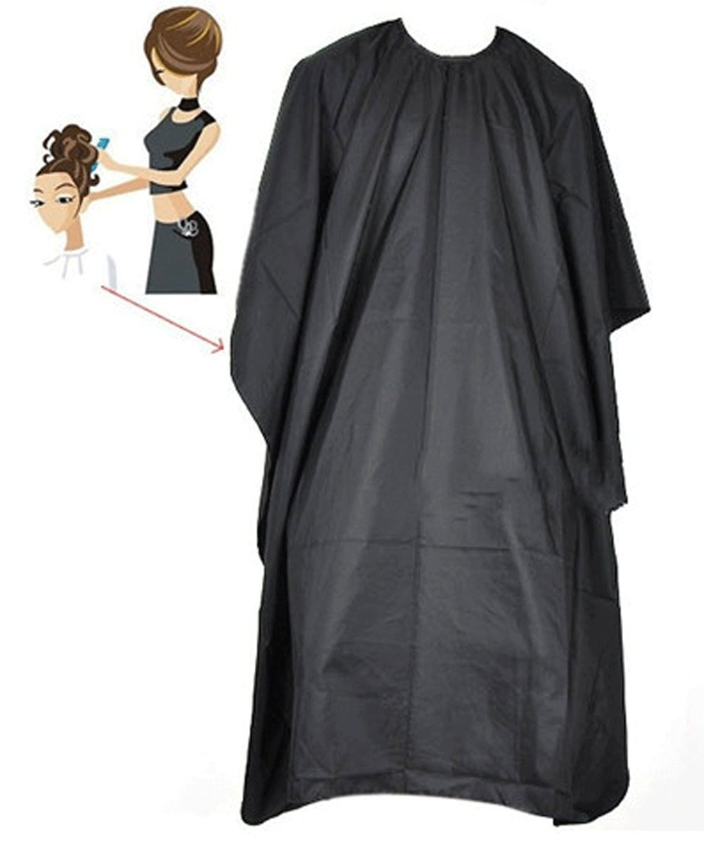 Hair Cutting Cape Pro Salon Hairdressing Hairdresser Gown Barber SOLID BLACK + FREE E - Book