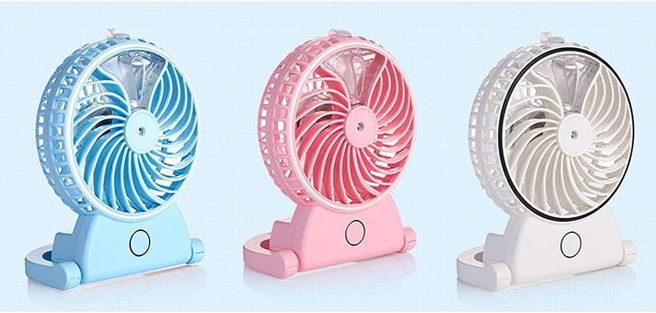 LRZLZY Mini port/átil Recargable del Ventilador Ventilador del Bolsillo silencioso y sin Vane Cuchillas soplador el Descanso Ventilador USB for la Carga m/óvil de tel/éfono Color : White