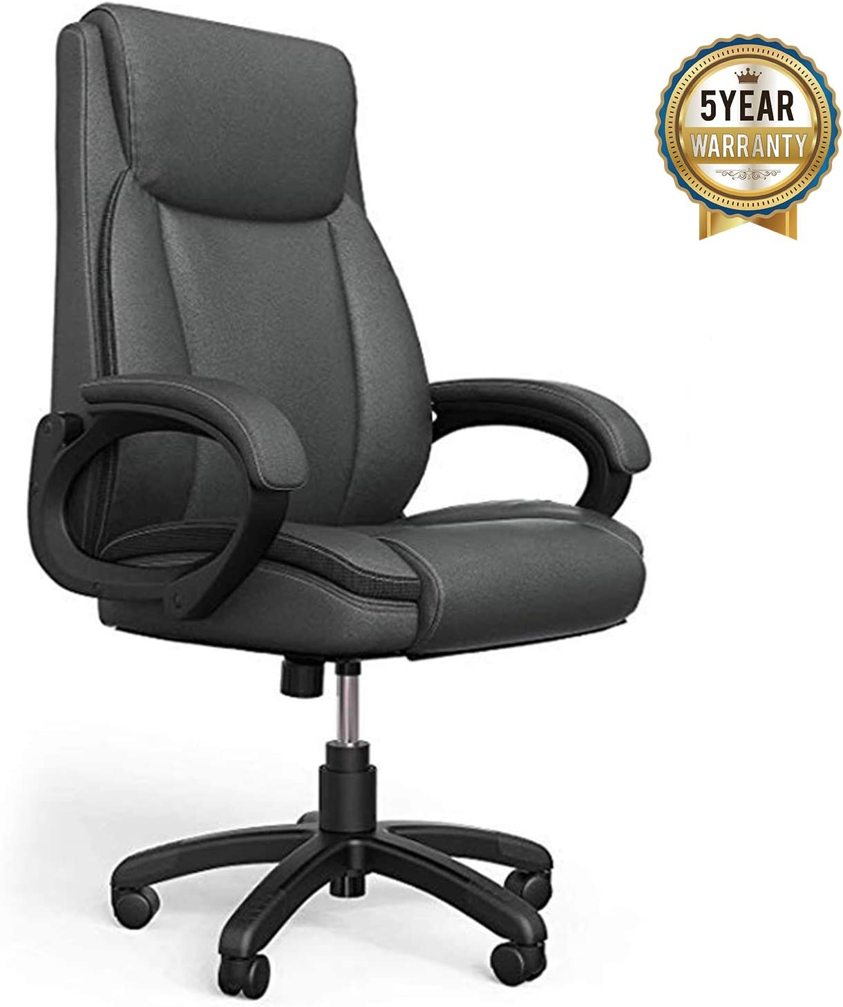 Amazon Com Mysuntown Executive Office Chair Pu Leather Swivel Managerial Task Chair Ergonomic High Back Home Office Desk Chair With Lumbar Support 260lb Office Products