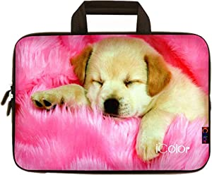 iColor Dog 11.6 12 12.1 12.2 Inch Laptop Case Protective Sleeve Bag Briefcase with Handle (IHB12-006)