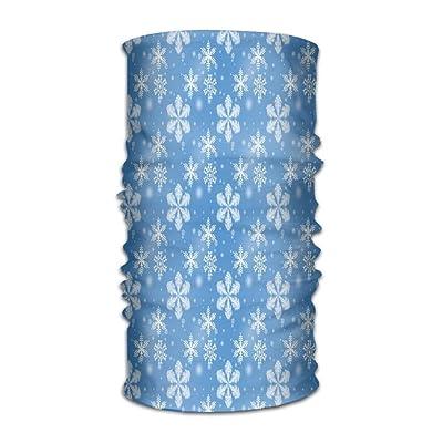 b95b2e5e0 LionRiver Winter Snowflakes Blue Christmas Snow Kerchief Bandanas Sweatband  Headwear Headscarf Elastic Turban