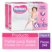 Huggies Ultraconfort, Niña, Etapa 6, 248 Pañales